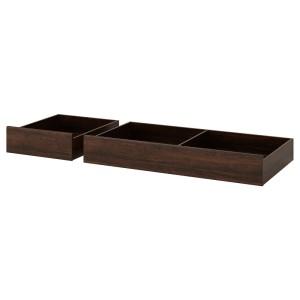 СОНГЕСАНД Кроватный ящик, 2 шт., коричневый