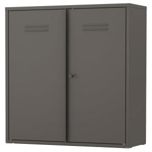 ИВАР Шкаф с дверями, серый
