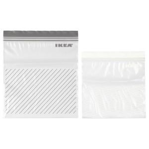 ИСТАД Пакет закрывающийся, серый/белый, 50шт