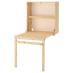 ИВАР Модуль д/хранения/складной стол, сосна