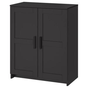 БРИМНЭС Шкаф с дверями, черный