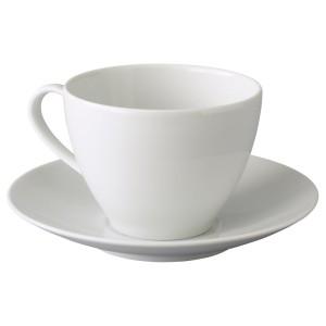 ВЭРДЕРА Чашка чайная с блюдцем, белый
