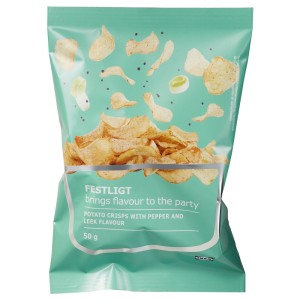 FESTLIGT Картофельные чипсы, перец лук-порей, 0.05кг