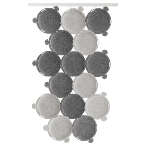 ОДДЛАУГ Звукопоглощающая панель, серый, 15шт