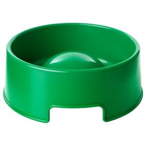 ЛУРВИГ Миска для медленного поедания корма, зеленый
