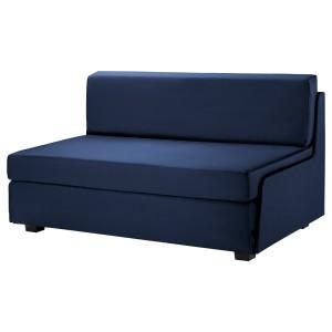 СВЭНСТА 2-местный диван-кровать, черный темно-синий