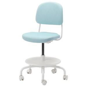 ВИМУНД Детский стул д/письменного стола, Висле сине-зеленый