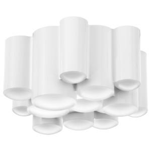 СЁДЕРСВИК Светодиодный потолочный светильник, белый регулируемая яркость, полированный белый