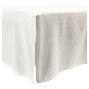 ЛЕНАСТ Подзор для кроватки, точечный, белый