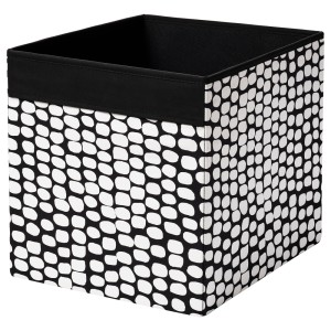 ДРЁНА Коробка, черный, белый
