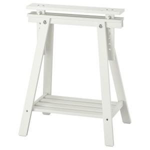 МИТТБАКК Опора для стола, белый массив дерева
