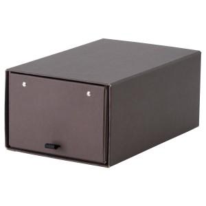АНИЛИНАРЕ Коробка для обуви, темно-коричневый