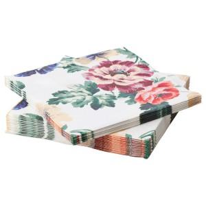 СМАКСИННЕ Салфетка бумажная, разноцветный, цветок, 30шт