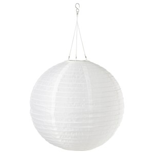 СОЛВИДЕН Подвесная светодиодная лампа, для сада, шаровидный белый