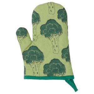 ТОРВФЛЮ Варежка-прихватка, с рисунком, зеленый