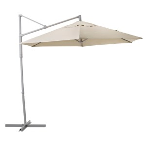 ОКСНЭ / ЛИНДЭЙА Зонт от солнца, подвесной, бежевый