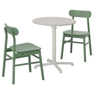 СТЕНСЕЛЕ / РЁННИНГЕ Стол и 2 стула, светло-серый, светло-серый зеленый