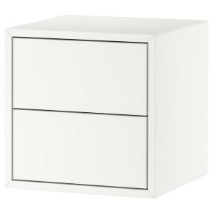 ЭКЕТ Навесной шкаф с 2 ящиками, белый