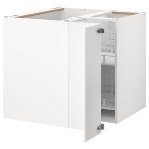 МЕТОД Угловой напольн шкаф с вращающ секц, белый, Веддинге белый