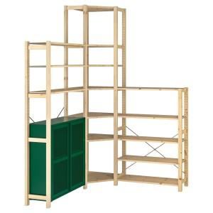 ИВАР 3 секции/угловой, сосна, зеленый сетка