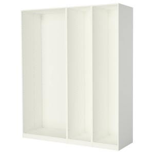 ПАКС 3 каркаса гардеробов, белый