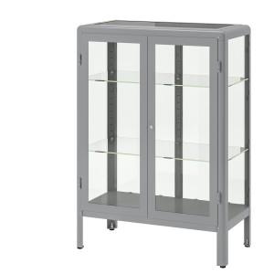 ФАБРИКОР Шкаф-витрина, серый