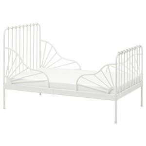 МИННЕН Раздвижная кровать, белый