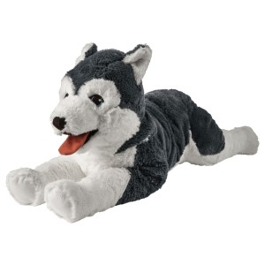 ЛИВЛИГ Мягкая игрушка, собака хаски, сибирский хаски