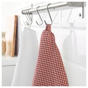 ТРОЛЛЬПИЛ Полотенце кухонное, белый, красный, 2шт