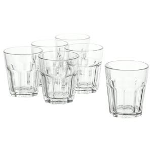 ПОКАЛ Стакан, прозрачное стекло, 6шт