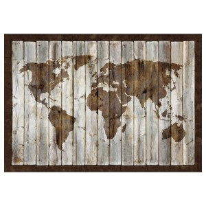 БЬЁРКСТА Холст, карта мира