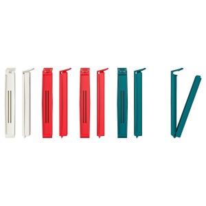 БЕВАРА Зажим, разные цвета разные цвета, 10шт