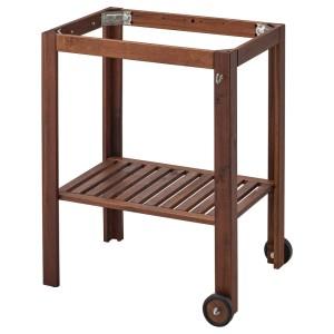 ЭПЛАРО Подстолье д/садового стола, коричневая морилка