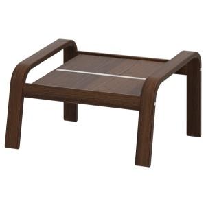 ПОЭНГ Каркас табурета для ног, коричневый