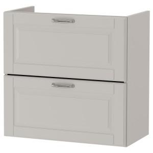 ГОДМОРГОН Шкаф для раковины с 2 ящ, Кашён светло-серый