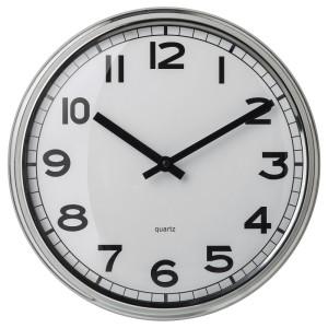 ПУГГ Настенные часы, нержавеющ сталь