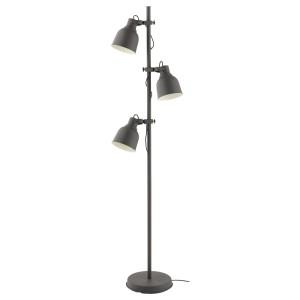 ХЕКТАР Светильник напольный с 3 лампами, темно-серый