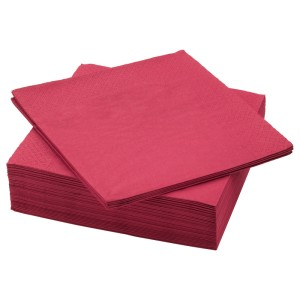 ФАНТАСТИСК Салфетка бумажная, темно-красный, 50шт