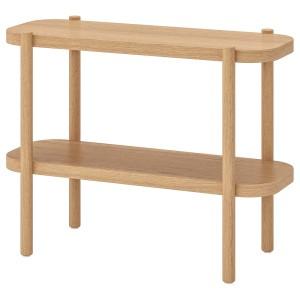 ЛИСТЕРБИ Консольный стол, белая морилка дуб