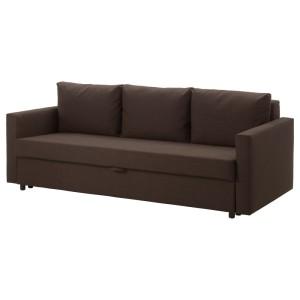 ФРИХЕТЭН 3-местный диван-кровать, Шифтебу коричневый