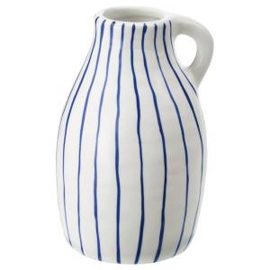 ГОДТАГБАР Ваза, керамика белый/синий