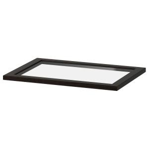 КОМПЛИМЕНТ Полка стеклянная, черно-коричневый