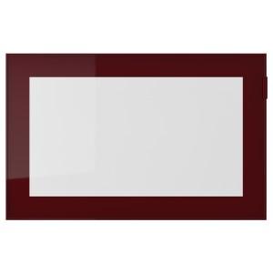 ГЛАССВИК Стеклянная дверь, темный красно-коричневый, прозрачное стекло