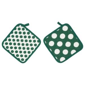 АЛЬВАЛИЗА Прихватка, зеленый, белый, 2шт