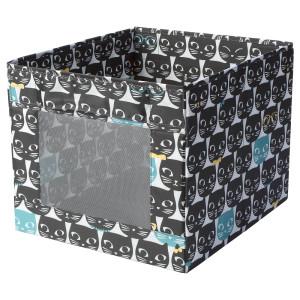 УППРЮМД Коробка, белый, черный с рисунком