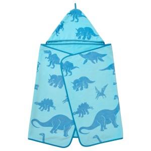 ЙЭТТЕЛИК Полотенце с капюшоном, динозавр, синий