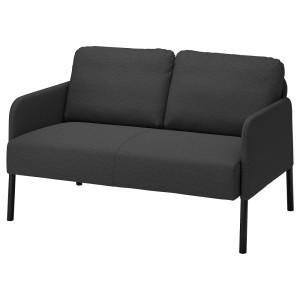 ГЛОСТАД 2-местный диван, Книса темно-серый