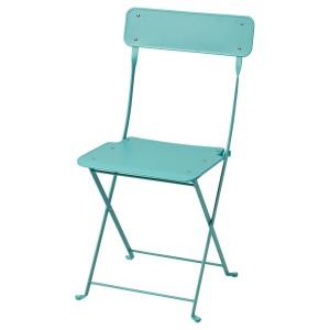 САЛЬТХОЛЬМЕН Садовый стул, складной, бирюзовый
