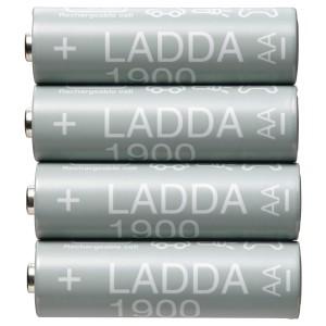 ЛАДДА Аккумуляторная батарейка, HR06 AA 1,2 В, 4шт