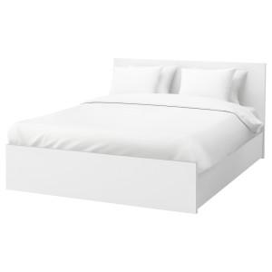 МАЛЬМ Каркас кровати+2 кроватных ящика, белый
